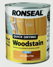 Ronseal Quick Drying Woodstain Satin 750ml - Natural Pine